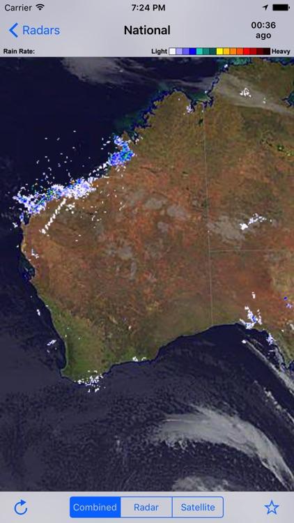 Rain Radar+ AU - BOM Radar