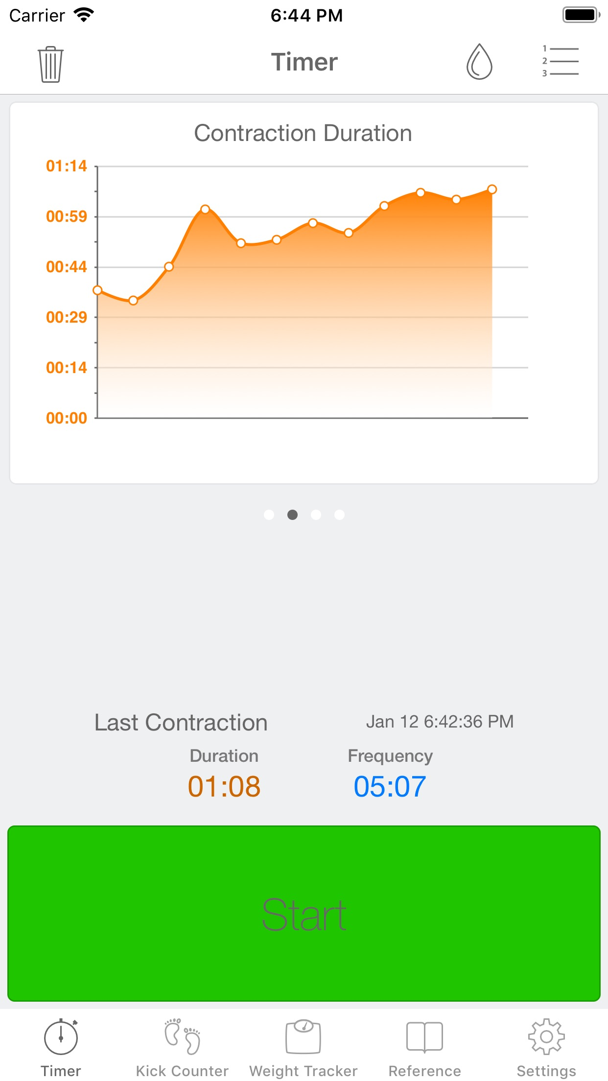 Full Term - Contraction Timer Screenshot