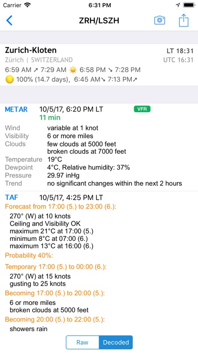 AeroWeather Lite Screenshot