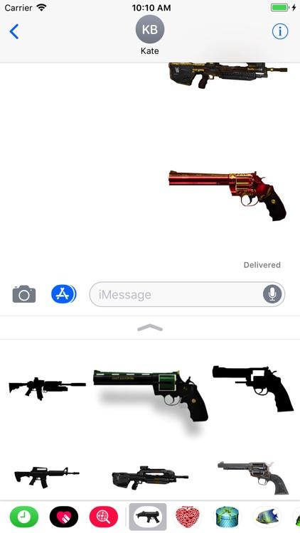 Guns Stickers for iMessage screenshot-4