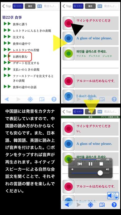 三省堂 デイリー日韓英3か国語会話辞典 ONESWING版のおすすめ画像5