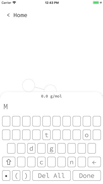 Molar Mass Calculator Screenshot