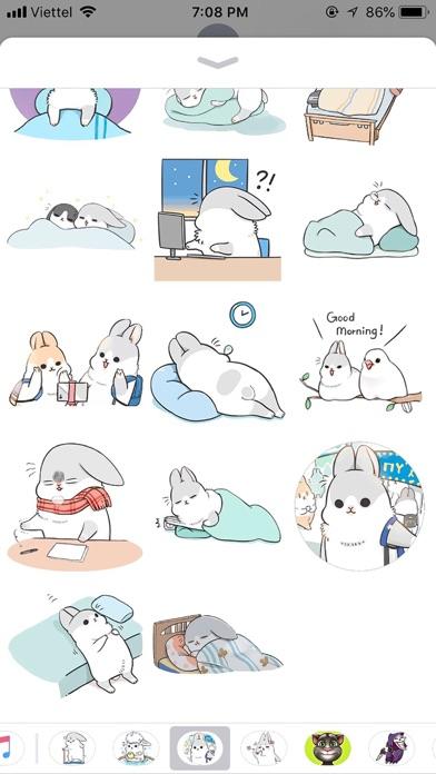 Rabbit Moji Pun Funny Stickers screenshot 3