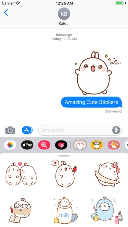 Cute Cartoon Bunny Stickers screenshot-4
