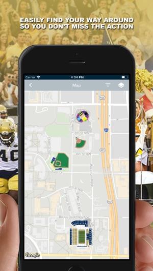 Campus Map Georgia Tech.Georgia Tech Gameday On The App Store