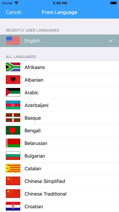 Screenshot for Translator any words in United States App Store