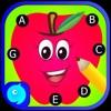 英語のアルファベットのゲームのドットを接続します。