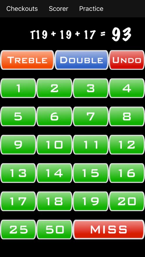 Darts Calculator App 截图