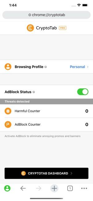 CryptoTab Browser Mobile su App Store