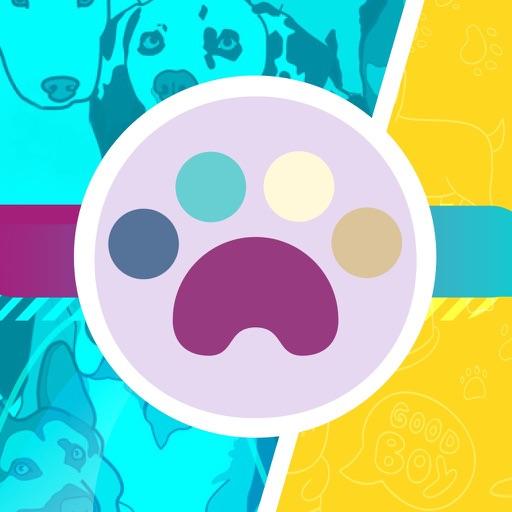 狗狗类型图-贴纸