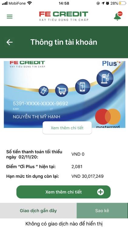 FE CREDIT Mobile screenshot-3