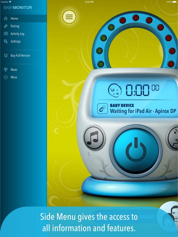 Safe Baby Monitor - Free Babyphone with Lullabies screenshot