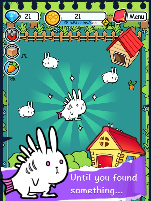 Rabbit Evolution Merge in Farm на iPad