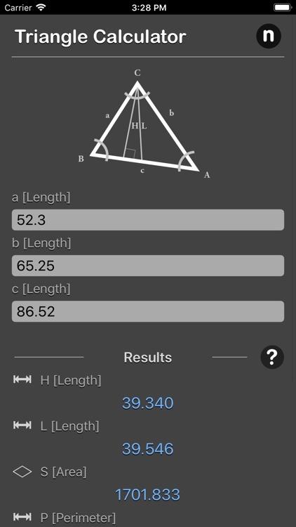 Triangle Calculator Plus screenshot-4