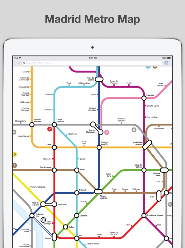 Madrid Metro Map And Routes On The App Store
