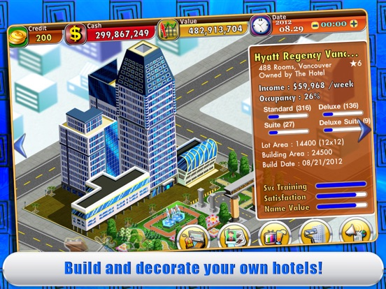 Screenshot #3 for Hotel Tycoon 2
