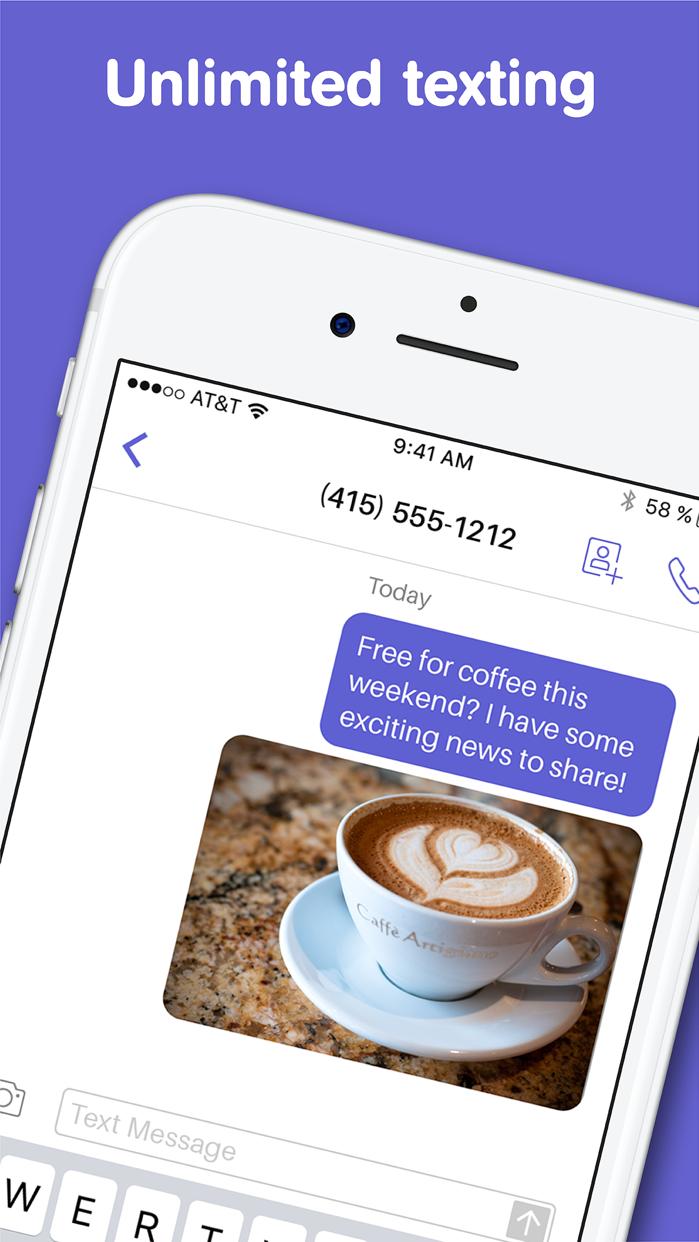 Text Free: Texting App + SMS Screenshot