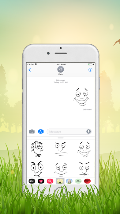 Funny Face Emotion Stickers