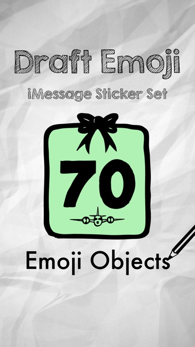 Draft Emoji: Doodle Objects screenshot 1