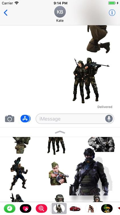 Military Set Stickers screenshot-3