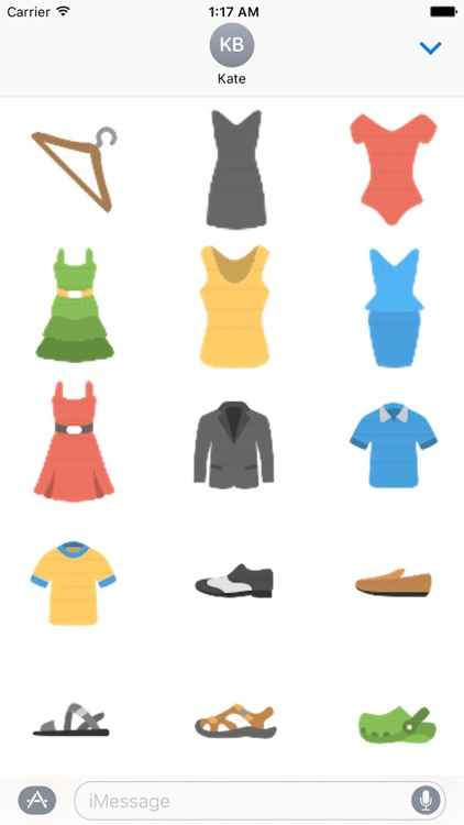 Clothes And Shoes Icon Sticker
