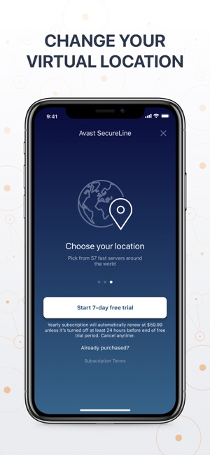 Avast SecureLine VPN Screenshot