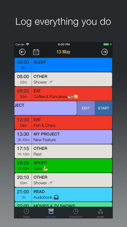 daylog | 24/7 time tracker