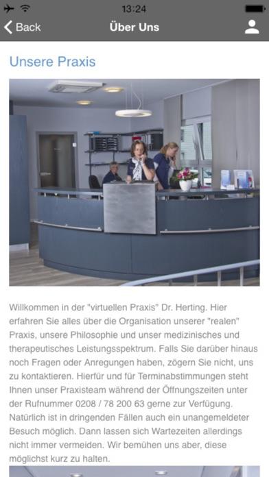 Praxis Dr. Herting screenshot two