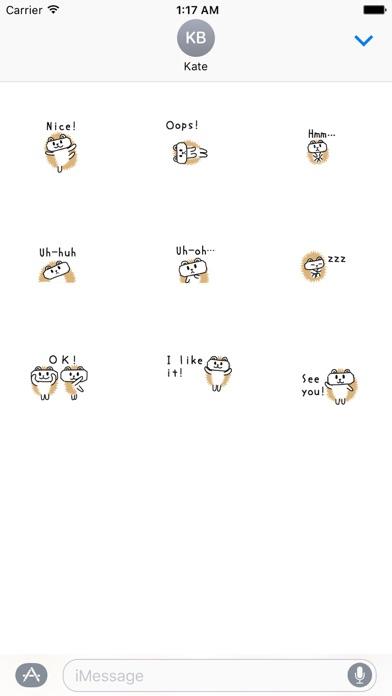 Animated Cute Hedgehog Sticker screenshot 2