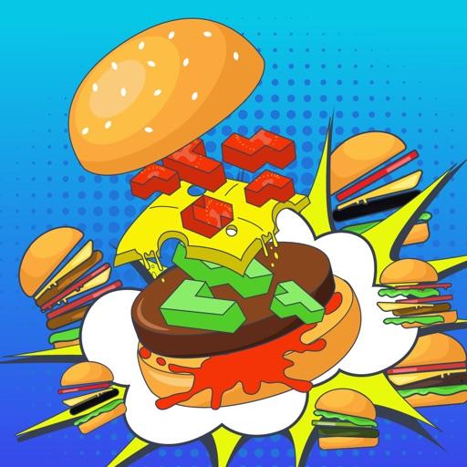 Сумасшедший бургер тетрис