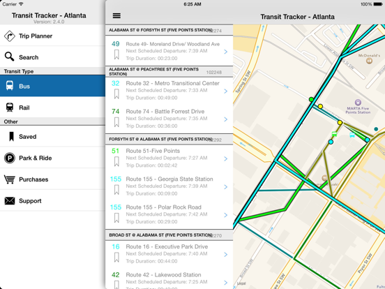 Transit Tracker - Atlanta-ipad-1