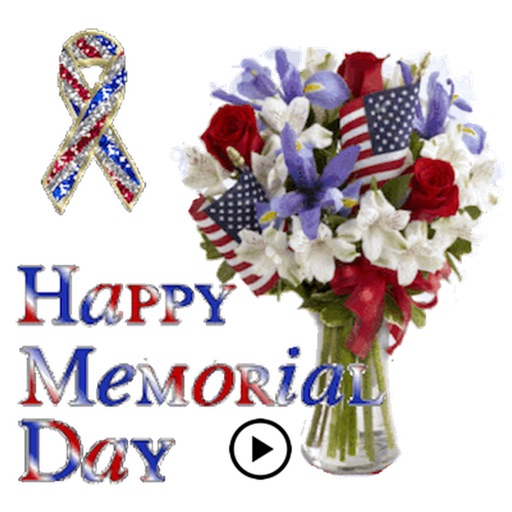 Animated Memorial Day Sticker icon