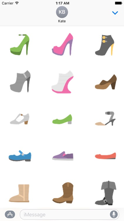 Clothes And Shoes Icon Sticker screenshot-5