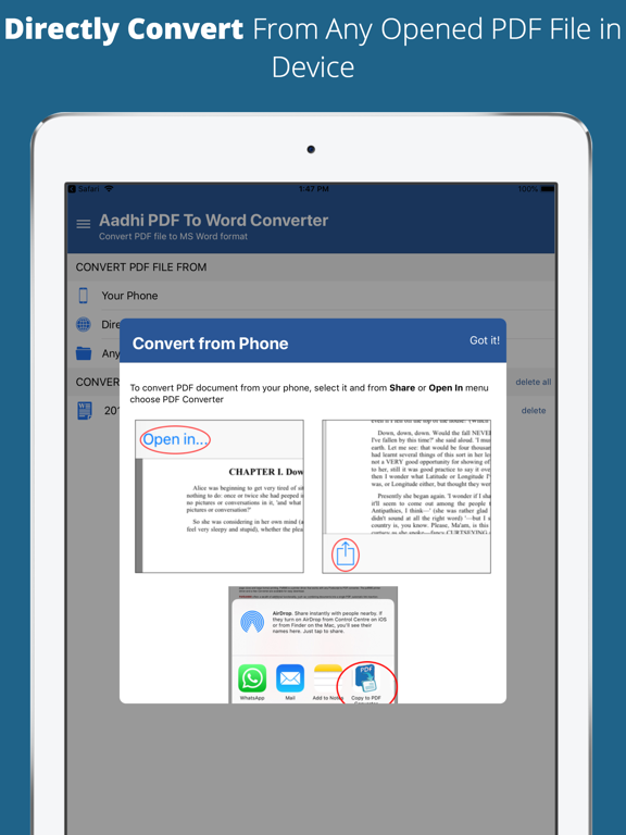 Aadhi PDF to Word Converter screenshot 10