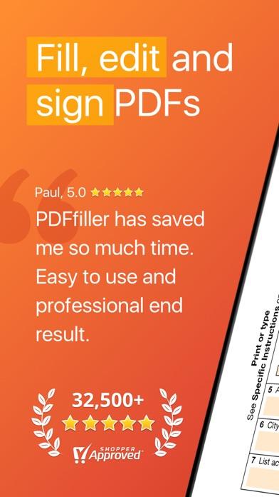 Screenshot #1 pour pdfFiller: modifier pdf & docs