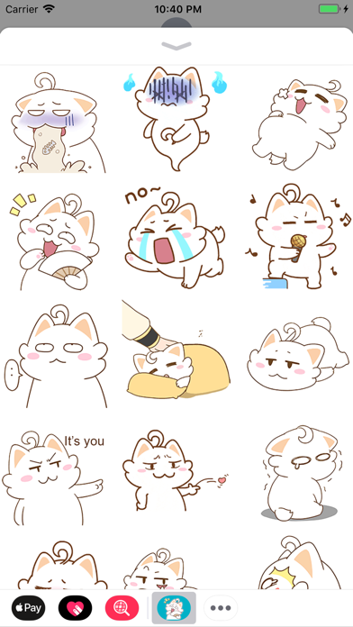 Fatty Cat Animated Stickers