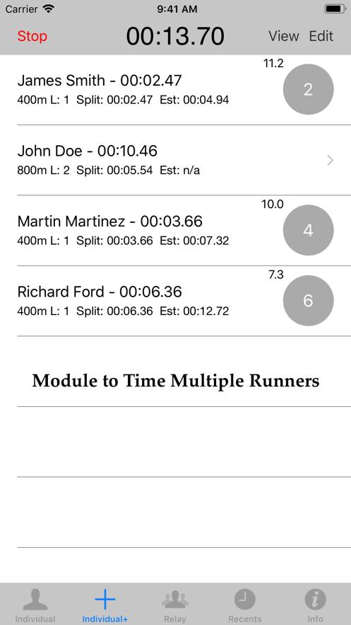 Stopwatch for Track & Field App 截图