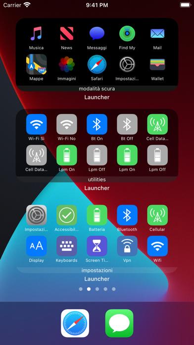 Launcher con più widget iPhone