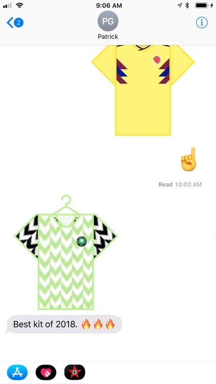 Jerseys of the World Stickers screenshot-4