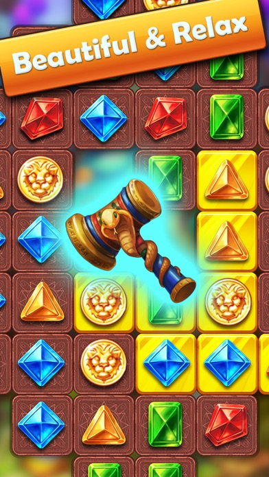 Genies & Jewels - Puzzle Quest Screenshot on iOS