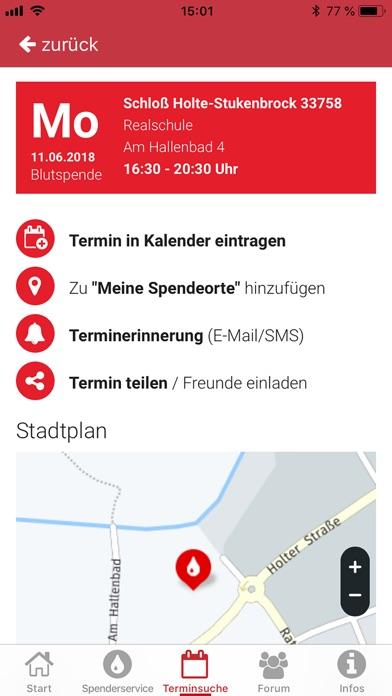 Screenshot for Blutspende in Germany App Store