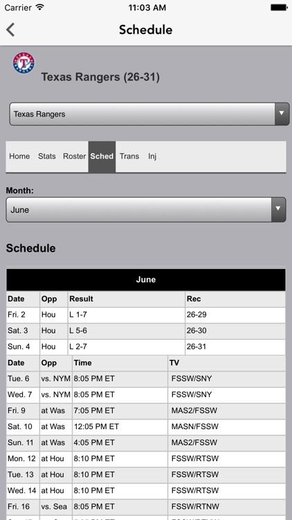 Baseball Texas - Rangers News screenshot-4