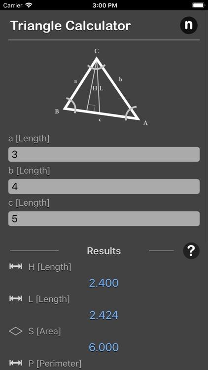 Triangle Calculator Plus