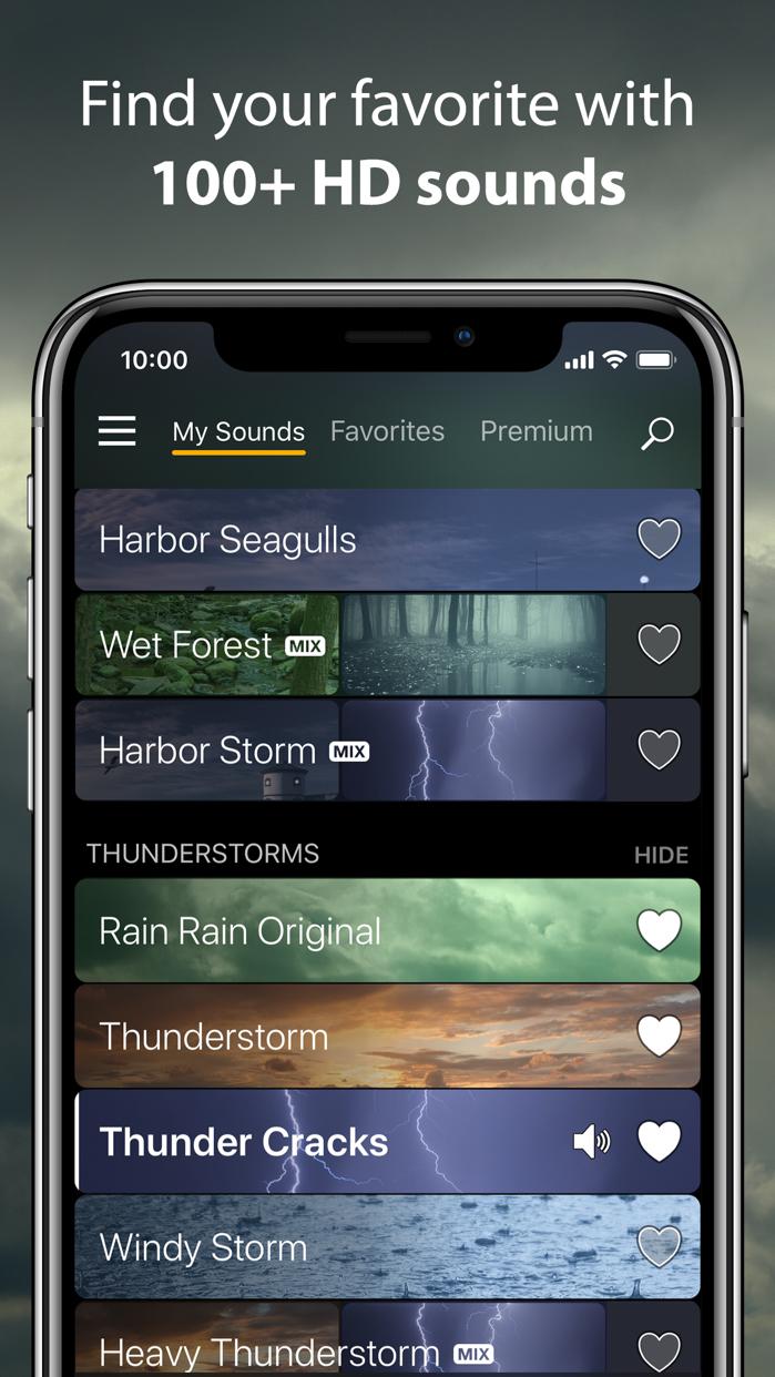 Rain Rain Sleep Sounds Screenshot