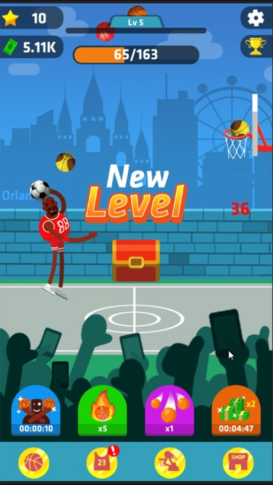 Idle Dunk Masters Скриншоты3