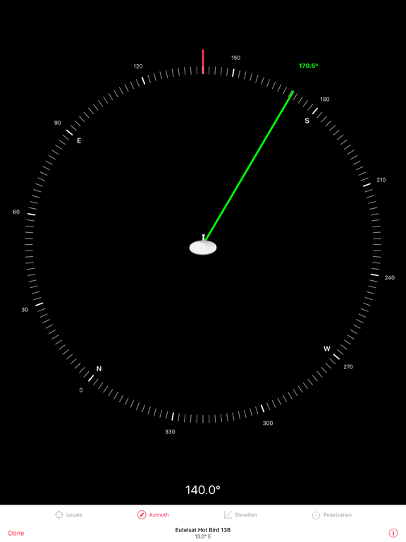 Satellite Pointer - Dish Setup by TouchDown Apps (iOS, United States