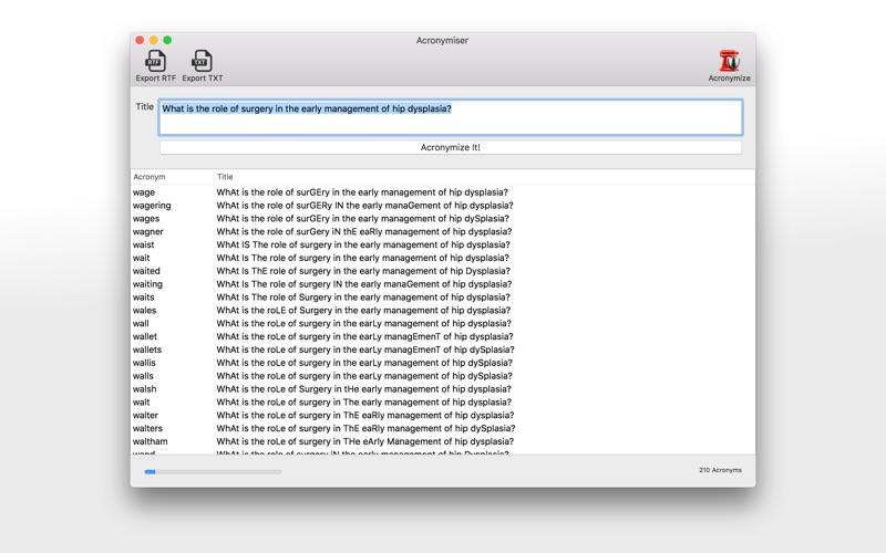 Acronymizer скриншот программы 1