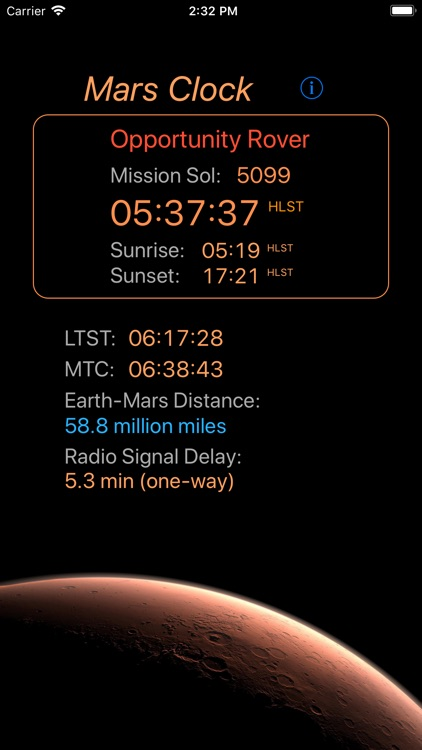 Mars-Clock screenshot-3