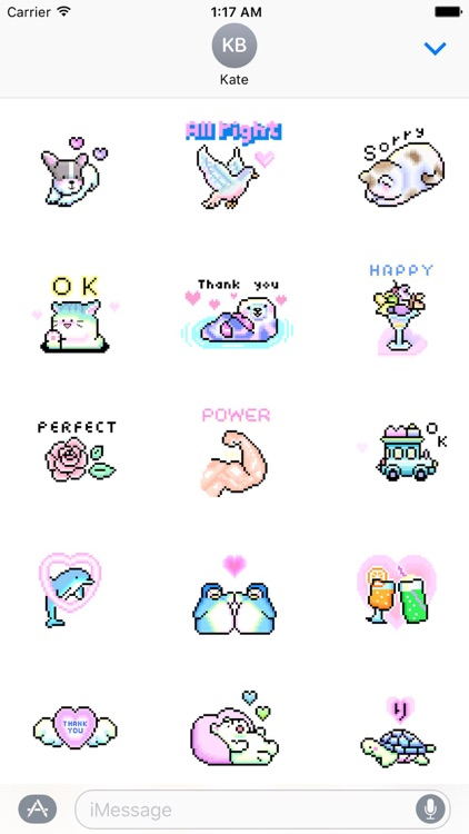 Animated Cute Pixel Stickers