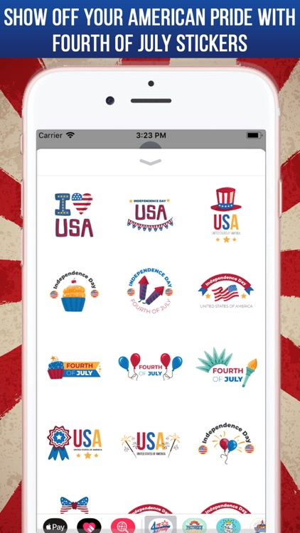 4th Of July Greeting Stickers